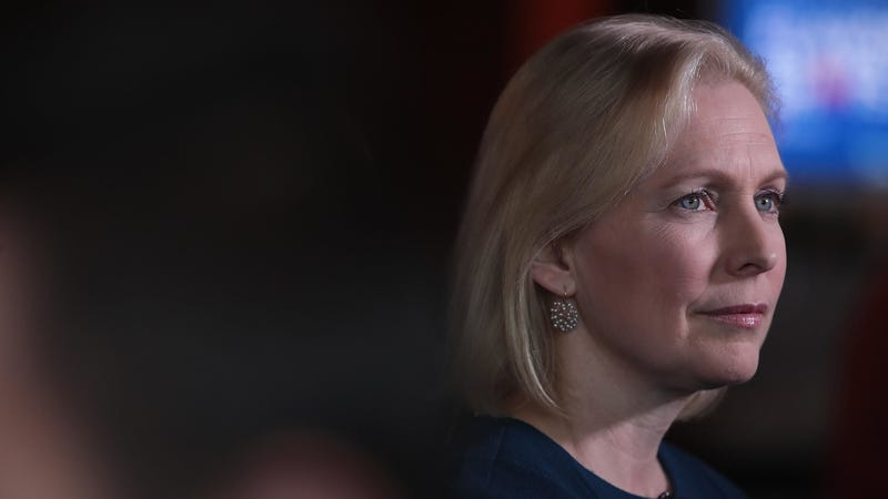 Democratic presidential candidate Sen. Kirsten Gillibrand at an April campaign event in Des Moines, Iowa.