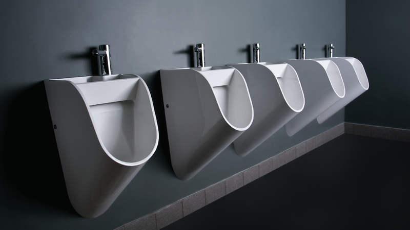 Would this new urinal design make men wash their hands for Male bathroom design