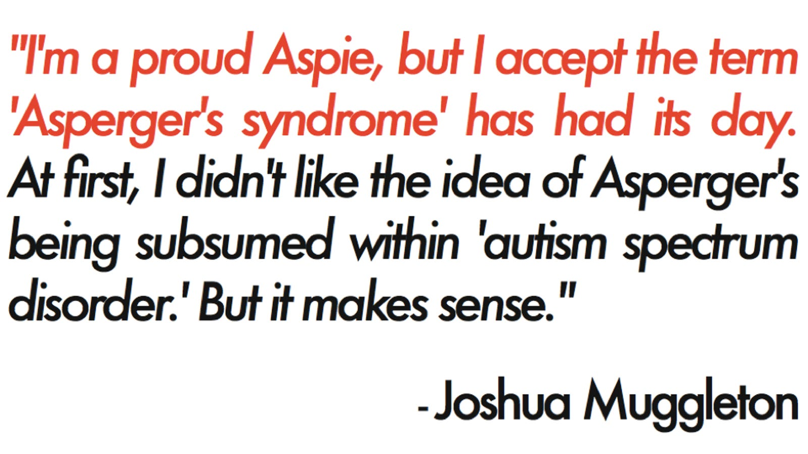 it's official: 'asperger's syndrome' is no longer a thing