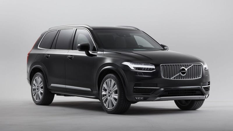 Illustration for article titled The Volvo XC90 Armored SUV Will Keep You in One Piece When Everything Goes to Shit