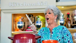 Paula Deen attends KitchenAid® Culinary Demonstrations during the Food Network South Beach Wine & Food Festival at Grand Tasting Village on Feb. 23 in Miami Beach, Fla.Frazer Harrison/Getty Images for Food Network SoBe Wine & Food Festival