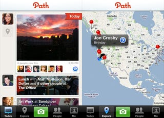 Illustration for article titled Social Networking iPhone App Path Shares Photos and Info With Closest Friends Only