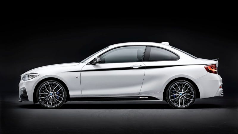 Illustration for article titled Supreme Sporty Flair In M Style: BMW M Performance Parts For The BMW 2 Series Coupé