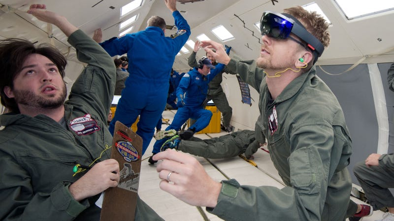 Illustration for article titled NASA Is Launching the HoloLens Into Space This Weekend