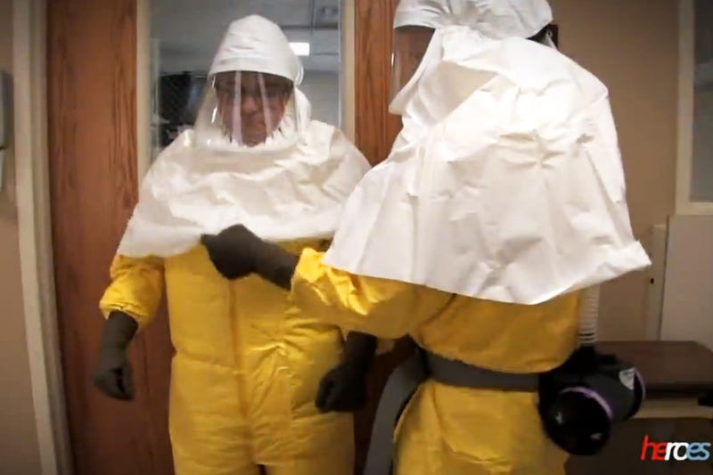 Illustration for article titled This Video Shows That Dressing For Ebola Is A Major Pain In The Ass