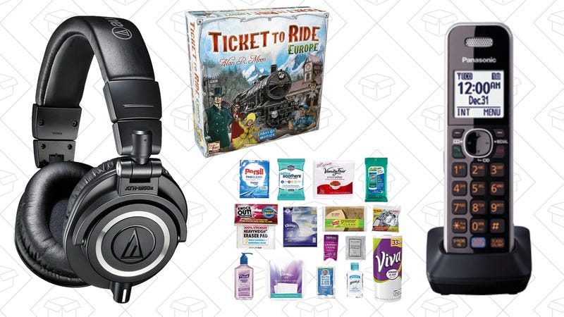 Today's Best Deals: Audio-Technica, Household Sample Box, and More