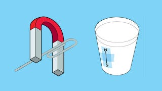 Illustration for article titled Guide Yourself Home with a Disposable Cup, a Paperclip, and a Magnet