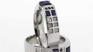 Illustration for article titled Pledge your love across time and space with a TARDIS engagement ring