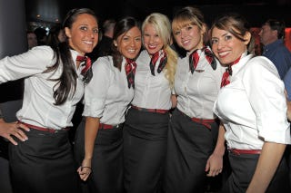 Cabin crew hook up