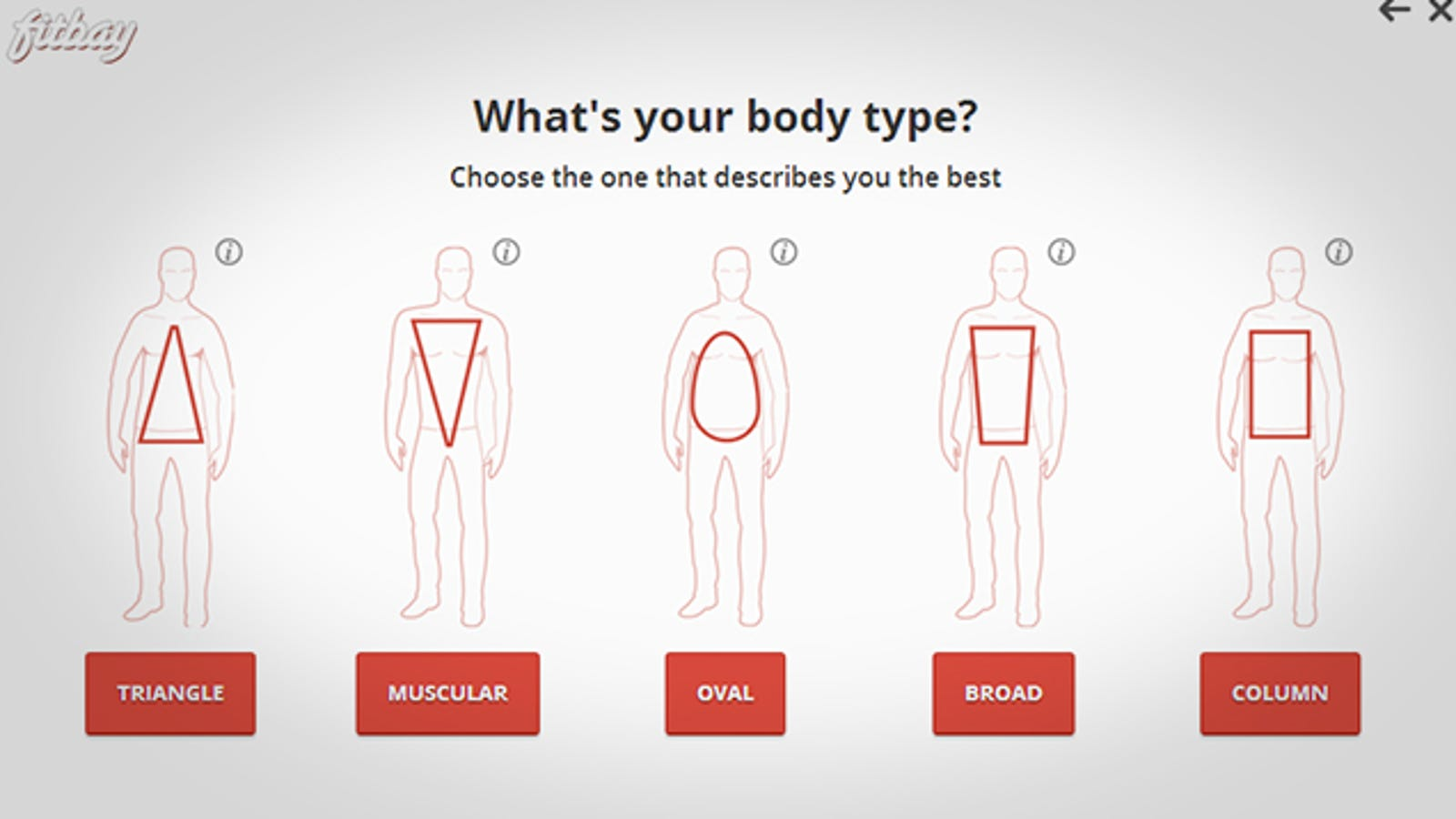 Fitbay helps you find clothes that fit your body type online ccuart Image collections