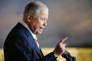 Former Sen. Edward William Brooke (R-Mass.) speaks during a ceremony to honor him with the Congressional Gold Medal in the Rotunda of the U.S. Capitol Oct. 28, 2009, in Washington, D.C.Jonathan Ernst/Getty Images