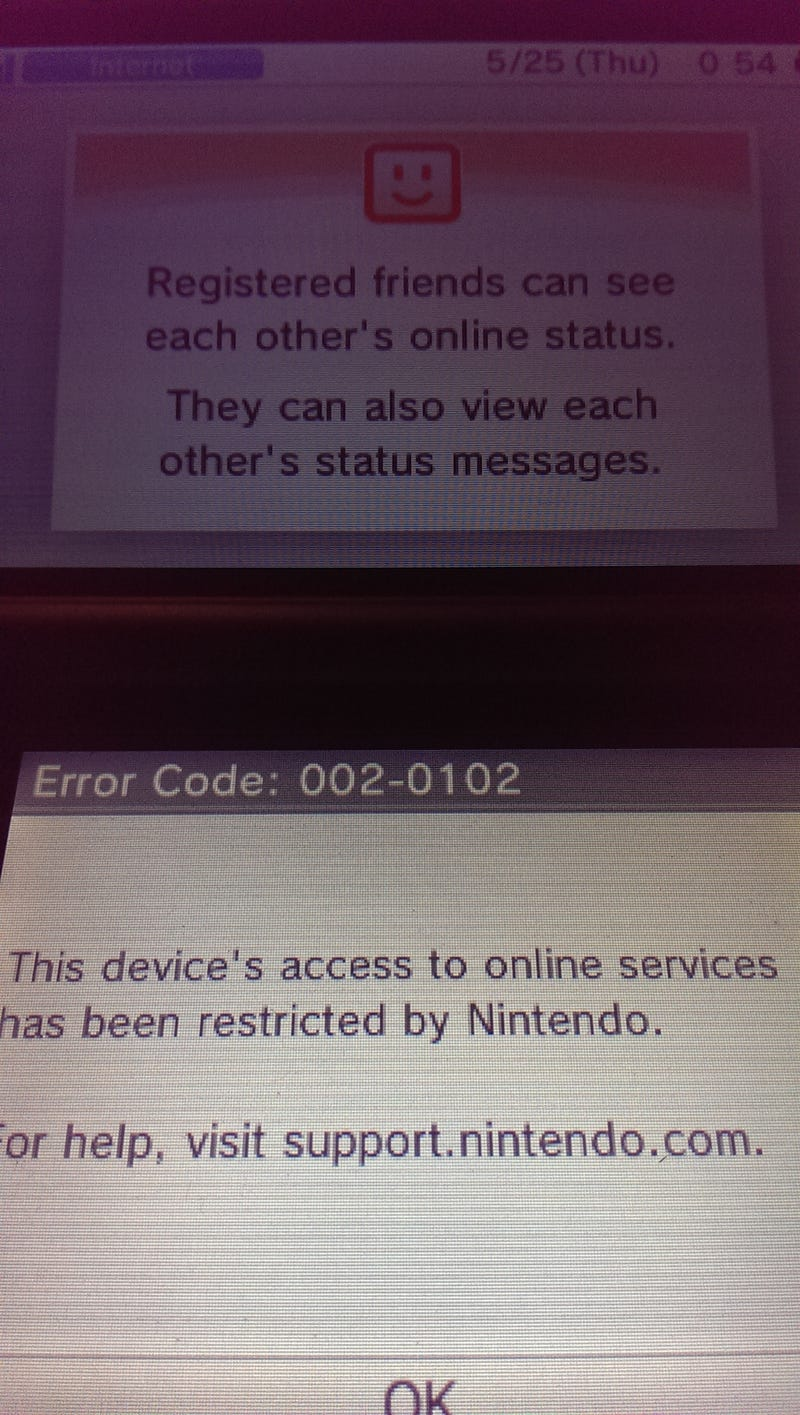 Nintendo are banning hacked 3DS's from going online | NeoGAF