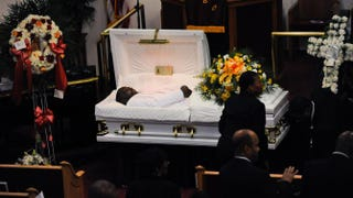 Mourners pay their respects during  Eric Garner's funeral July 23, 2014, at Bethel Baptist Church in Brooklyn, N.Y.Julia Xanthos-POOL/Getty Images