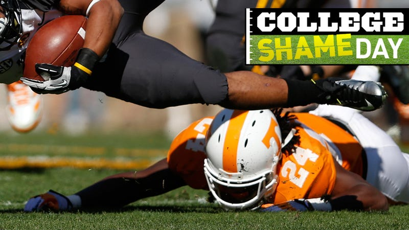 Illustration for article titled College ShameDay: Who Embarrassed Themselves On Saturday (Besides Sad, Sad Tennessee)?