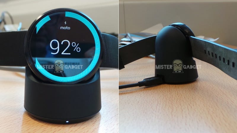 Illustration for article titled Moto 360's Wireless Charging Dock Looks As Good As the Watch