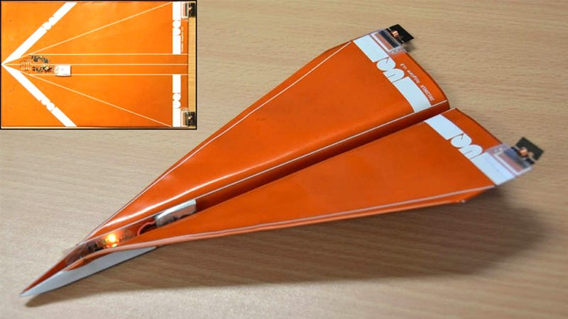 Steerable Paper Airplanes Put Your Harassment Right On Target