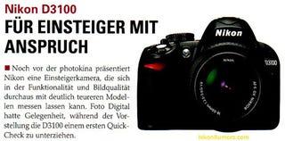 Illustration for article titled Nikon D3100 Leaked Details Reveal a 14 Megapixel CMOS Sensor and 1080p Video