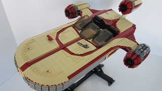 Illustration for article titled This Lego Landspeeder Has Everything But The Droids You're Looking For