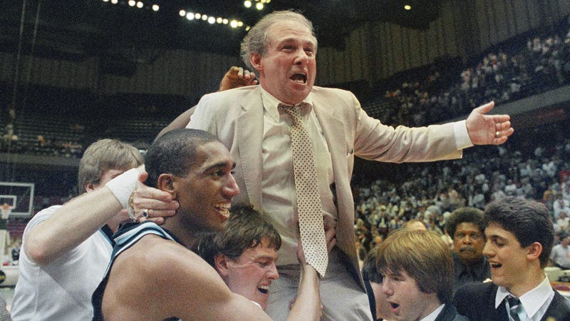Rollie Massimino after wining the Southeast Regional in March of 1985. (Photo: Associated Press)