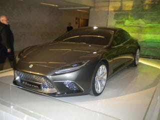 Illustration for article titled Lotus Eterne Sedan Concept: First Photos