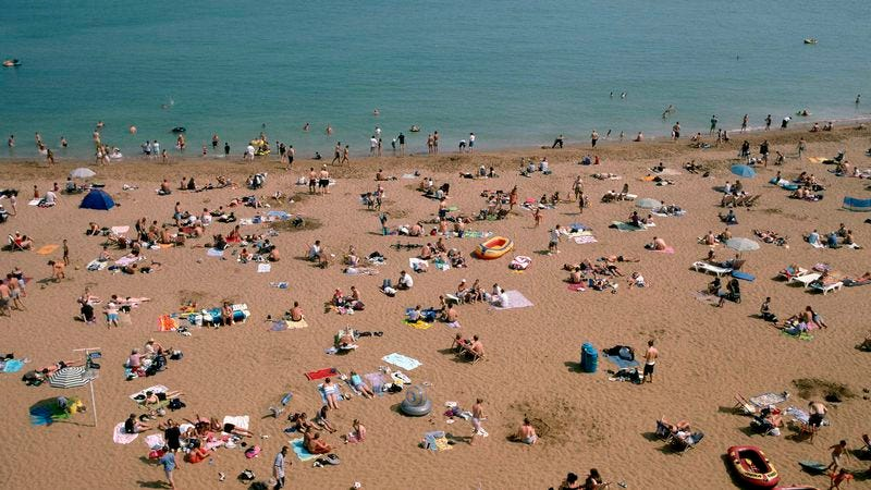 Summer in Broadstairs, U.K. (Photo: Francois LE DIASCORN/Gamma-Rapho via Getty Images)