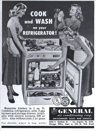 Illustration for article titled Why Aren't There More Refrigerator-Stove-And-Sink-In-One Units Around ?