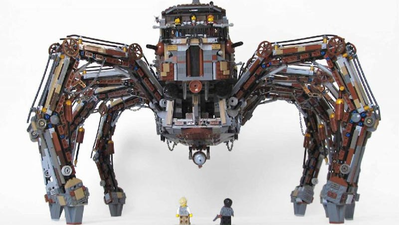 Illustration for article titled This steampunk Lego tarantula is terrifyingly cool