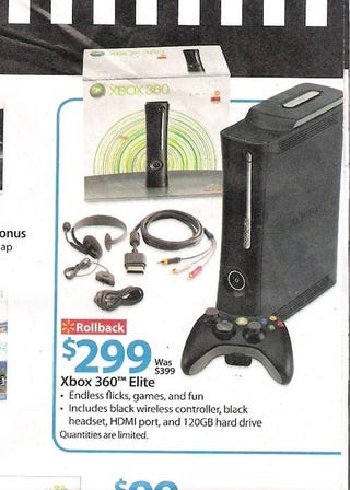Illustration for article titled Why Hello, $299 Xbox 360 Elite