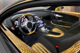 mansory bugatti veyron: over-the-top faux opulence hits new gold