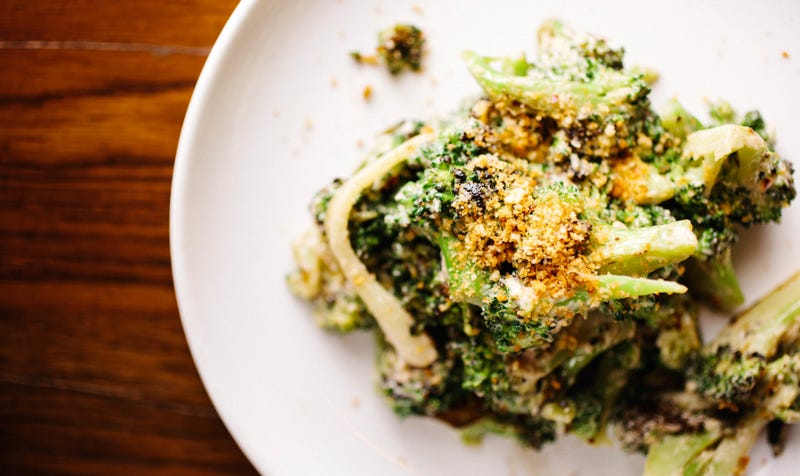 The Purple Pig's roasted broccoli with anchovy vinaigrette