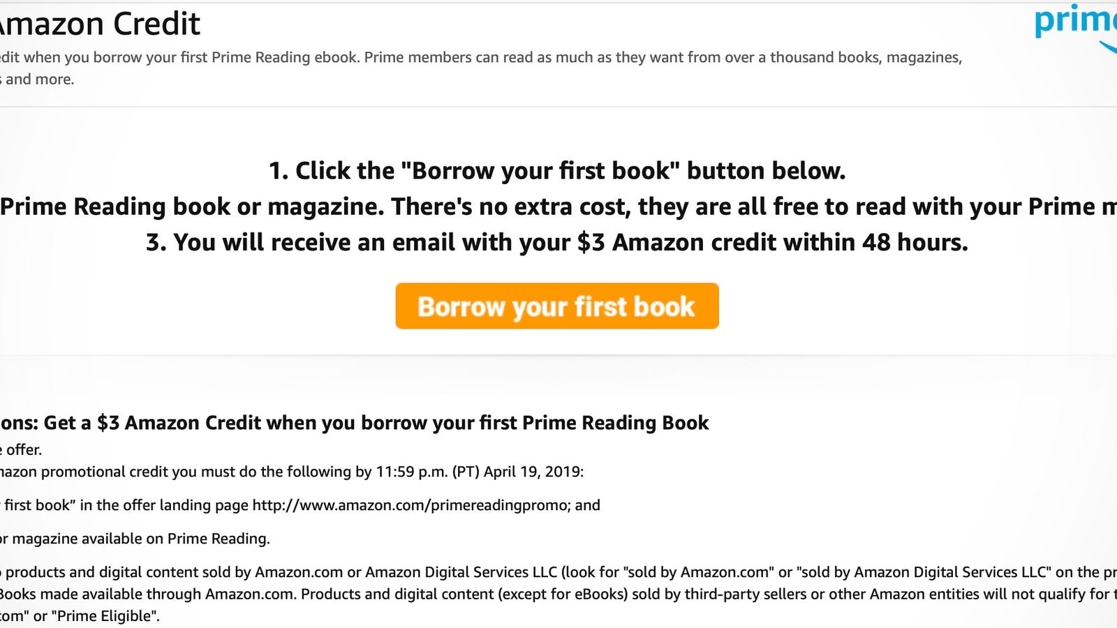 Have Prime? Click Two Buttons To Get a FREE $3 Amazon Credit.