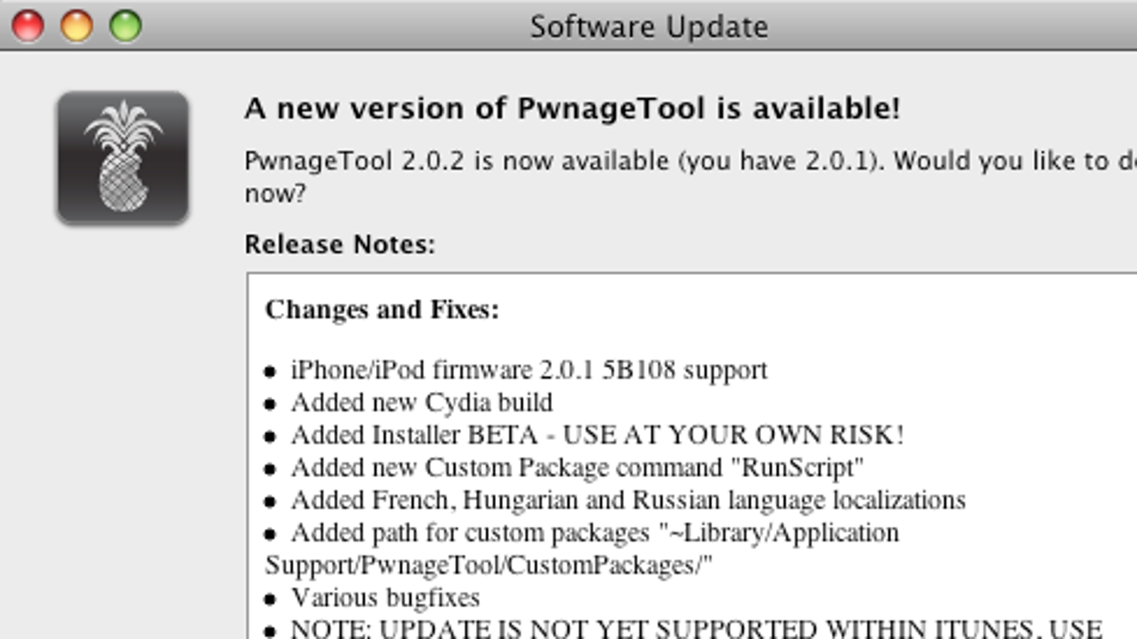 logiciel pwnage tool version 2.0.1