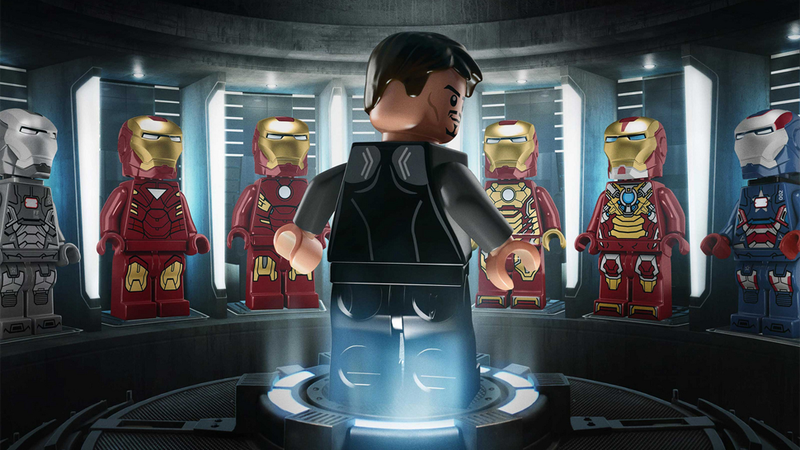 Illustration for article titled Iron Man 3 posters get the Lego-isation treatment
