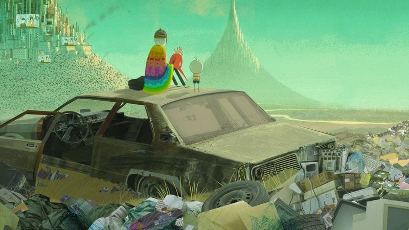 The animated The Boy And The World is a hand-drawn stunner