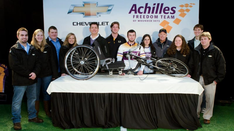 Illustration for article titled Chevrolet Tests Hand Cycle At Marathon