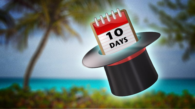 Illustration for article titled 10 Days Is the Magic Vacation Number. Here's Why
