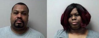 Clifford Knight and Latoya Knight were arrested in Manchester, Conn., on April 2, 2016, after they allegedly assaulted a 21-year-old man when an argument over crab legs turned physical.Manchester (Conn.) Police Department via NBC Connecticut