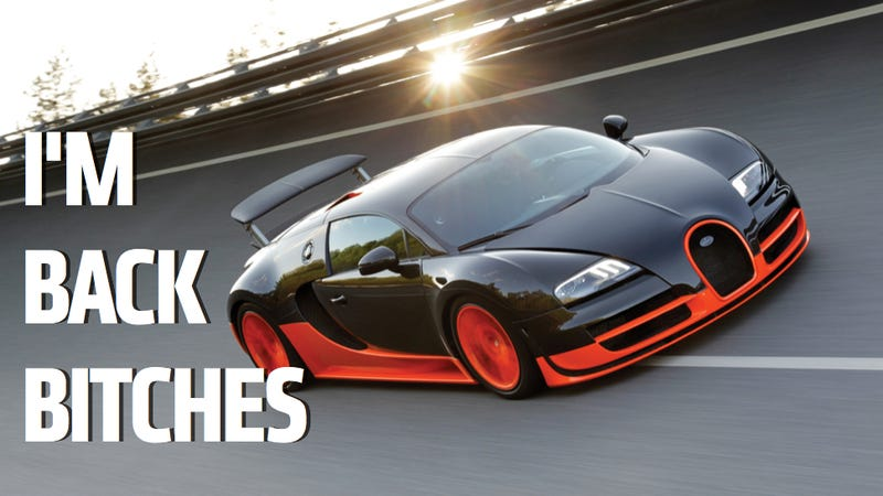 Illustration for article titled Guinness Gives 'World's Fastest' Title Back To Bugatti