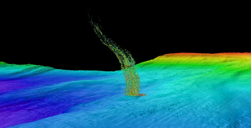 Illustration for article titled Warming Waters May Be Releasing Giant Plumes of Methane Off the U.S. West Coast