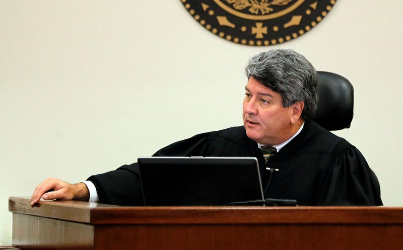 Judge George Gallagher instructs the jury about the punishments they can assess during the punishment phase in a 2014 trial.