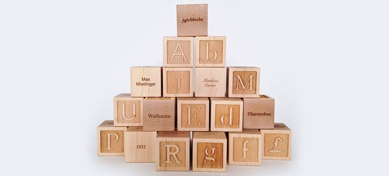Illustration for article titled Typographic Building Blocks Teach Your Kids the Dangers of Papyrus