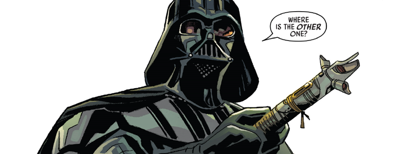 Darth Vader holds as an ancient weapon for a more civilized age in Star Wars Annual #4.