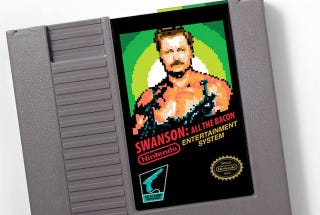Illustration for article titled Parks and Recreation's Manliest Man Honored With His Own Classic NES Cartridge