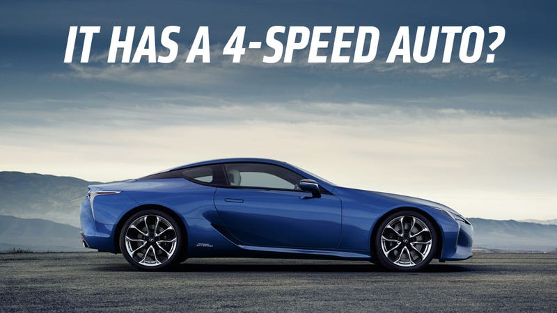 The New Lexus LC 500h Is A Car From The Future With A Transmission