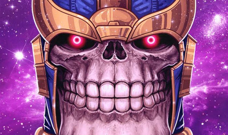 Illustration for article titled Thanos Is Scarier Than Ever In This Exclusive Mondo Poster Reveal