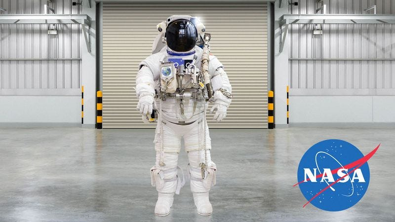 According to NASA, this suit could allow human beings to safely walk on the surface of the Earth for short periods of time in an environment that would otherwise kill them in seconds.