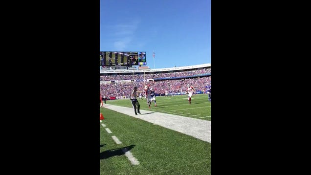 Patrick Peterson Picks Off Tyrod Taylor With One Hand