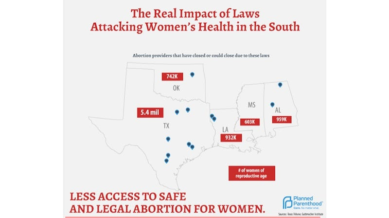 Illustration for article titled Women in the South Are Rapidly Losing Abortion Access