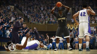 Illustration for article titled NCAA 10 Showcases the Charm and Bad Calls of Hoops' Top Home Courts
