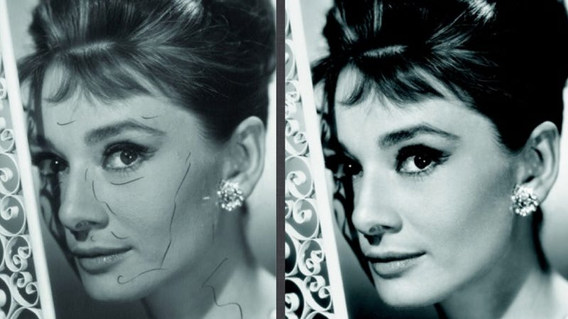Illustration for article titled How Audrey Hepburn Was Airbrushed